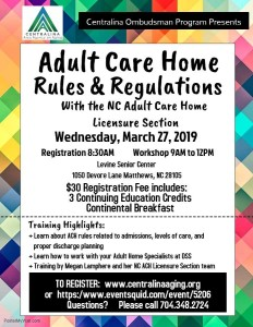 Adult Care Home Rules Amp Regulations Centralina Area
